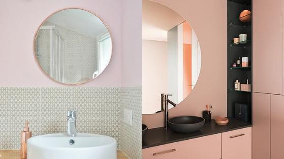 Quelle couleur avec du gris dans une salle de bain ?