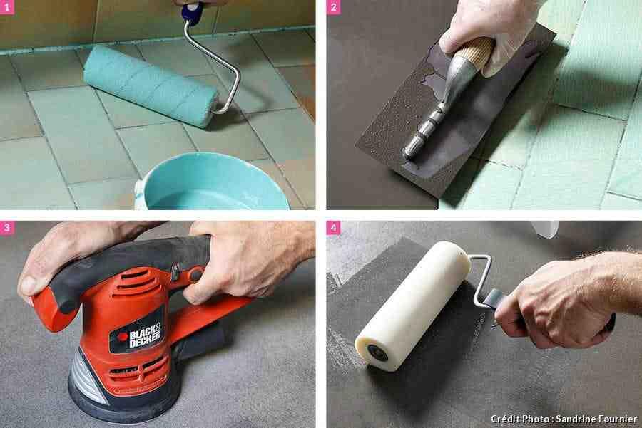 Comment faire du béton ciré sur du carrelage ?